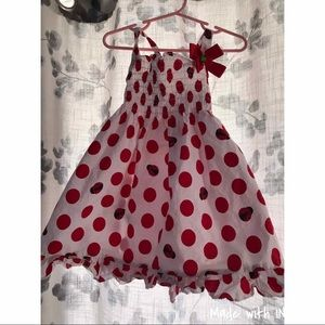 Polka dot little girl dress